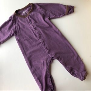 Babysoy Purple Footed Pajamas